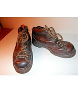 Dr Martens Brown Leather Shoes Womens sz 5 8287 Boots - $37.39