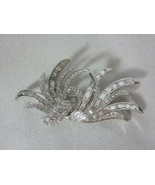 Nolan Miller Feather Pin with Clear Crystals and Clear Baguettes - $63.10