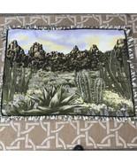"Desert Cactus Scene Tie Blanket 57""x41"" - $19.80"