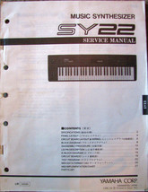 Yamaha SY22 Vector Music Synthesizer Keyboard Original Service Manual Sc... - $19.79