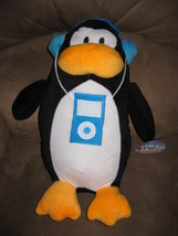 "PENGUIN w BLUE IPOD Brand New Plush NWT Stuffed Animal w/ Tags 15"" ANIMA... - $14.99"