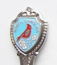 Collector Souvenir Spoon USA North Carolina Cardinal Cloisonne Emblem - $4.99