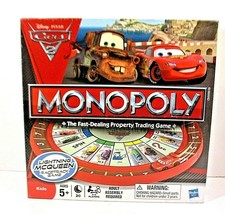 MONOPOLY Disney Pixar Cars 2 Lightning McQueen Racetrack Board Game Hasbro NIB - $18.69
