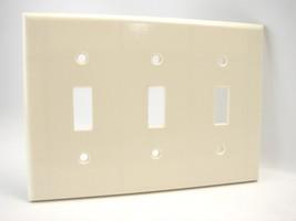 NIB Leviton 80423-A 5 Gang Almond Decora Wall Plate