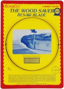 "Primary image for SuperCut B92.5P58V3 WoodSaver Plus Resaw Bandsaw Blades, 92-1/2"" Long - 5/8"" Wid"