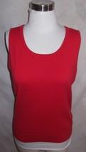 New Talbots Knit Top Shell Medium Red Sleeveless - $18.99