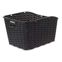 Basil Weave WP Synthetic Woven Rear Bicycle Basket - Black - $54.15