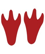 LiteMark Red Dinosaur Tracks Decal Stickers - Pack of 12 - $19.95