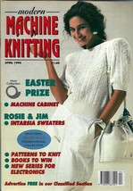 Modern Machine Knitting Mar 1994 Magazine Intarsia Rosie & Jim characters - $10.68