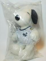 "New York Yankees 9"" Snoopy Plush Doll SGA Pinstriped Jersey Metlife NYY ... - $37.57"