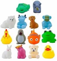 Baby Bath Toy 14 Pieces Chu Chu Colorful Animal Shape Bath Toys Bathing ... - $39.47