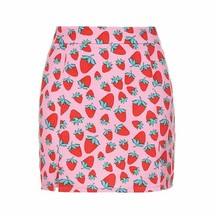 Sweet Women Side Split Mini High Waist Strawberries Skirts Slim Skinny P... - $19.99