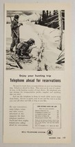 1956 Print Ad Bell Telephone System Hunters in Snow Look at Tracks - $14.83