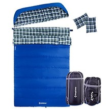 KingCamp Single/Double Sleeping Bag for Adults, 5℉ Ultra Warm Cotton Fla... - £114.52 GBP