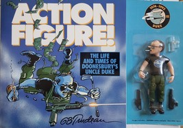 1992 Action Figure! The Life and Times of Doonesbury's Uncle Duke Book &... - $25.95