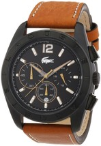 Lacoste 'Panama' Chronograph Leather Strap Watch SHIPSFREE - $176.16