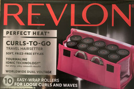 Revlon Perfect Heat Curls-To-Go 10 Easy Wrap Rollers RVHS6603 Sealed - $21.99