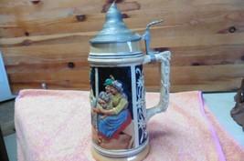 """Vintage Made in Germany Beer stein Lidded Pewter Heavy 11"""" - $38.60"""