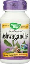 Nature's Way Ashwagandha Standardized Vegetarian Capsules 60 each - $16.00