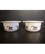B. Kliban ceramic bowls handled edges kitty cat in red sneakers rare kil... - $99.99
