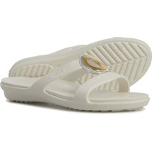 NEW Crocs Sanrah Metalblock Sandal in White sz 4 - $23.76