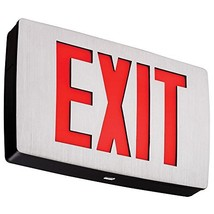 Lithonia Lighting LQC 1 R EL N LED Exit Sign Emergency with Red Letters,3 watts, - $97.75