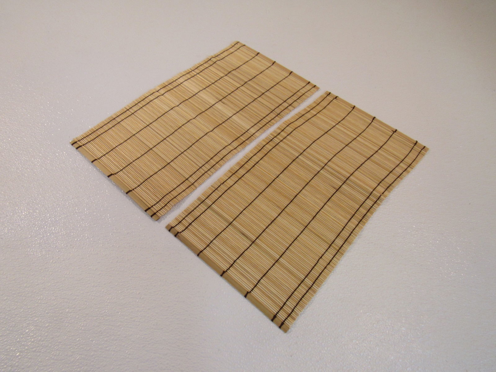 Standard Small Table Runner Set of 2 Asian 17in x 8.75in Vintage Bamboo
