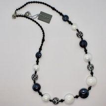 NECKLACE ANTICA MURRINA VENEZIA WITH MURANO GLASS WHITE BLACK GRAY COA38A15 image 6