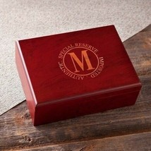 Engraved Laser Cherry Finish Humidor Engraved Gifts Personalized Gifts - $52.86