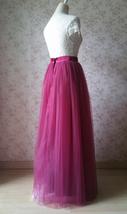 Full Tulle Maxi Skirt Plus Size Floor Long Tulle Skirt Wedding Guest Maxi Skirts image 7