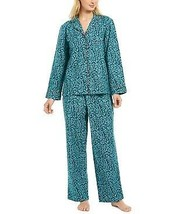 Charter Club Printed Cotton Flannel Pajama Set Color: Holly Berries  - $35.99