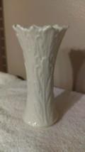 Lenox bud vase embossed leaves with jagged edges nice design - $6.92