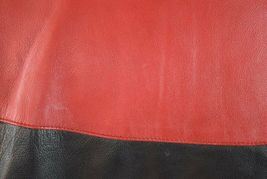 Vtg 90s Nascar Racing Soft Black & Red Luxe Leather Retro Bomber Jacket Mens S image 10