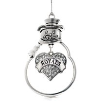 Inspired Silver Royals Pave Heart Snowman Holiday Decoration Christmas Tree Orna - $14.69