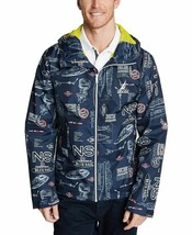 Nautica Mens Jacket Blue Windbreaker All Over Print $118 Size XL - $54.44