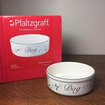"""Pfaltzgraff Stoneware Winterberry 7 1/2"""" DOG BOWL Dish w/ Original Box U... - $32.71"""