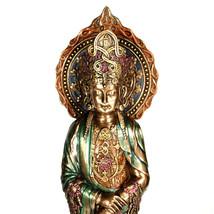 "KWAN YIN ROSARY STATUE 15"" Quan Yin Prayer Bead Buddha Goddess Bronze Re... - $104.89"