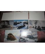 10 VTG LEANIN' TREE TRAIN RAILROAD CHRISTMAS CARDS UNUSED 5 Styles w/ EN... - $18.95
