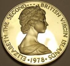 Rare Proof British Virgin Islands 1978 25 Cents~Mangrove Cuckoo~7,059 Minted~F/S - $8.34