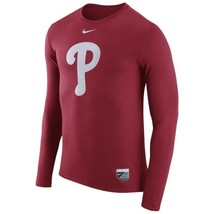 Philadelphia Phillies Mens Nike AC Logo L/S DRI-BLEND T-Shirt - XXL - NWT - $27.99