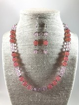 Pink beaded necklace  - $26.00