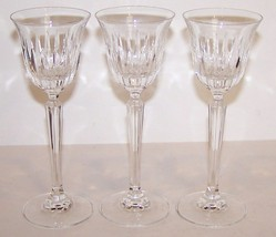 "STUNNING SET OF 3 MIKASA CRYSTAL INSPIRATION 6 3/8"" CORDIAL GLASSES - $49.49"
