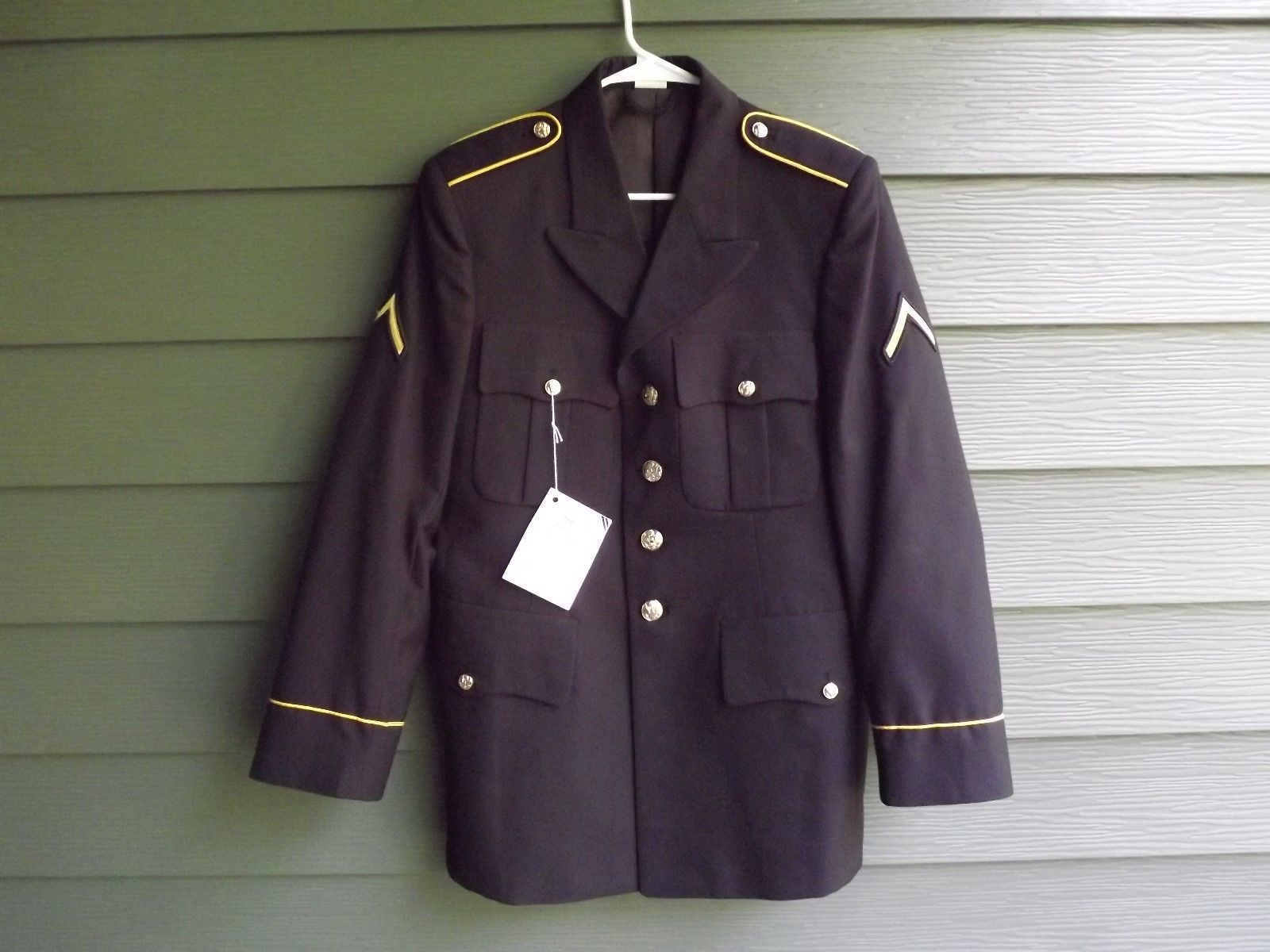 Army Soldiers of Distinction Uniform Button Jacket Blue Navy Black 38RC - $74.79