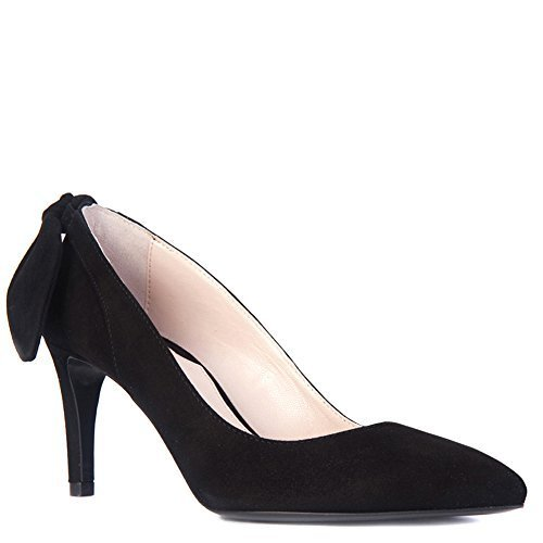 Carven Women's Bow-Back Pump Shoes 902SC103 Black (EU 36)