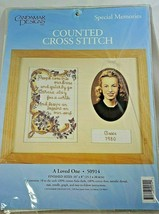 Special Memories Counted Cross Stitch A Loved One #50914 Candamar Designs - $12.19