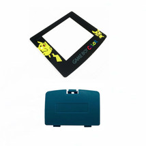 New TEAL Game Boy Color Battery Cover + Pokemon Pikachu Screen GBC - $7.22