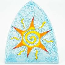 Fused Art Glass Orange Yellow Sun Nightlight Night Light Handmade in Ecuador image 2