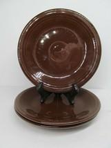 "Homer Laughlin Fiesta 7 1/4"" Chocolate Brown Side Plates Set Of 3 Plates Nice - $24.50"