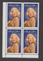 1995 Marilyn Monroe Block of 4 US Postage Stamps Catalog Number 2967 MNH