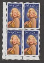 1995 Marilyn Monroe Block of 4 US Postage Stamps Catalog Number 2967 MNH